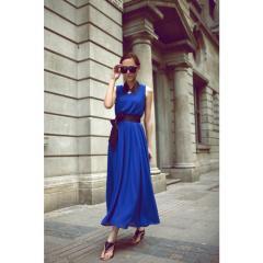 Maxi Chiffon Dress-Glory Blue Dress