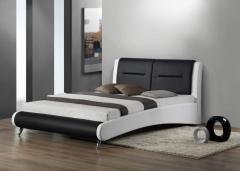 Leather Bed PU Black & White Gitzo Bed