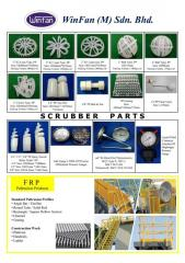 Scrubber Parts - PP Packing, PP Spray Nozzle, PP Grating, Differential Pressure Gauges, Thermometer