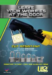 UfO Heavy Duty series padlock with patent