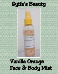 Vanilla Orange Face & Body Mist