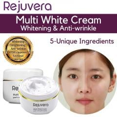 Rejuvera Gold Multi Whitening Cream with Goats Milk 50g - 24k Gold Capsules / 7in1 Function