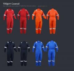 100% Cotton Preshrunk Coverall with Reflective