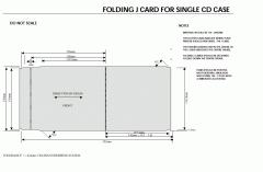 Folding J Card For Single CD Case