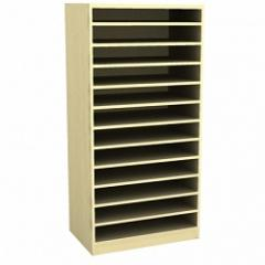 Narrow cubby-cabinet.