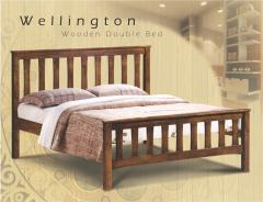 Wooden Double Bed Wellington