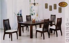 SolidTable & Dining Chair With Cushion Seat