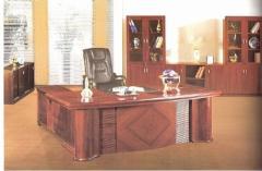 Wooden Executive Desk c/w Main Desk & Side