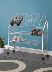 Shoe Rack (3-Tier with Vertical Frames)