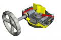 Quarter-Turn Gearbox for fire protection butterfly valves