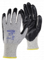 13G Black Speckled HPPE Gloves, Black Nitrile Palm Coated, Open Back, Knit Wrist & Smooth Finish