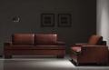 Upholstered Sofa Model 411
