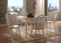 Natural White Wooden Dining Set