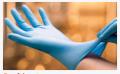 Lightly Powdered Nitrile Examination Gloves