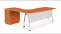 Office furniture   Executive L-shaped Table with Modesty Panel, 2+1F Fixed Pedestal & Inula Leg