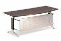 Office furniture Executive D-shaped Table with Modesty Panel & Iris Leg