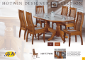Dinner table brown wooden
