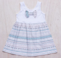 WHITE NORDIC DRESS WITH BOW