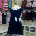 BLUE PRINCESS BABY GIRL DRESS WITH BOW