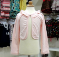 LIGHT PINK BABY GIRL CARDIGAN WITH RUFFLES