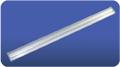 Teardrop emergency luminaire with electronic ballast