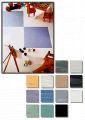 Homogeneous sheet vinyl flooring