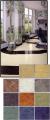 Vinyl sheet flooring.