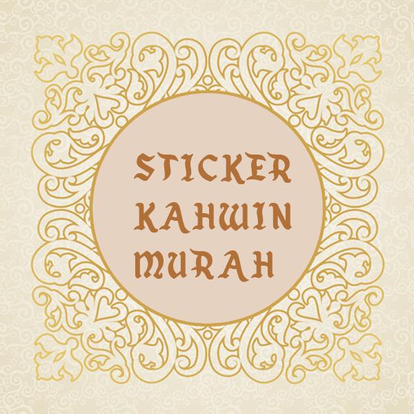 Order Sticker kahwin murah