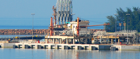 Order Berthing space, storage, access and pipelines