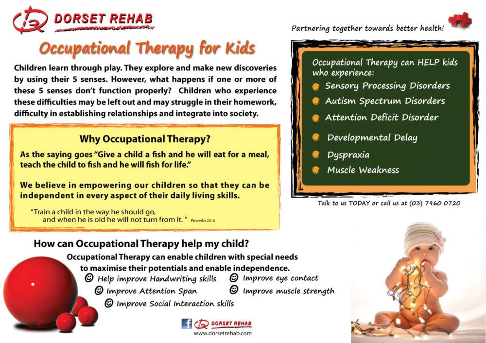 Order Occupational Therapy for Children with Learning Difficulties