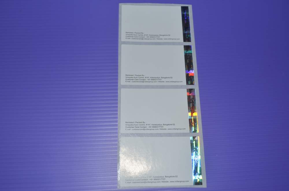 Order Security Hologram Label and Seals