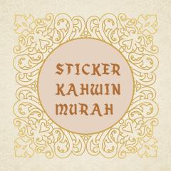 Sticker kahwin murah